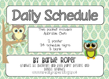 Cute Owls Daily Schedule
