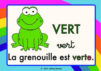 Learn Colors in French cute POSTERS / Posters pour apprendre les couleurs
