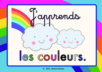Learn Colors in French cute POSTERS / Posters pour apprend