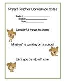 Cute Parent-Teacher Conference Forms