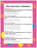 Cute Parent Volunteer Sign-Up Sheet