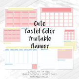 Cute Pastel Color Printable Planner