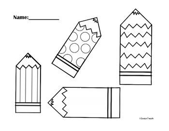 Cute Pencils (Open Worksheet)