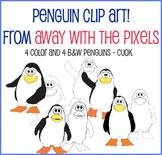 Cute Penguin Clip Art for Teachers