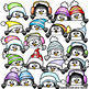 Cute Penguin Peekers Peeking Penguins Page Toppers Faces Winter Clipart Clip Art
