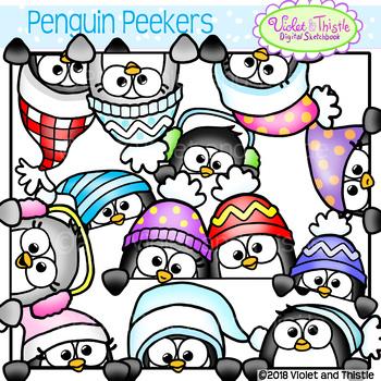 cute penguin peekers peeking penguins page toppers faces winter rh teacherspayteachers com winter clipart pictures winter clipart pictures