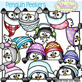 Penguin Clipart Peeker/Page Topper