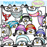 Penguin Clipart Penguin Page Topper Faces Peeking Clipart
