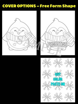 Cute Penguin with Snow - Moonju Makers Activity, Craft, Writing, Decor, Winter