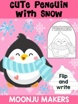 Cute Penguin with Snowflakes - MOONJU MAKERS - Flip and Write