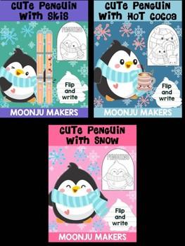 Cute Penguins of Winter - Bundle of Moonju Makers, Crafts, Decor, Arctic Animals