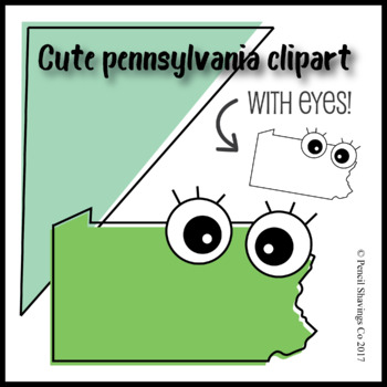 Cute Pennsylvania Clipart with Eyes!