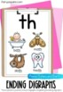 Phonics Posters - 25 Initial and Final Consonant Digraphs