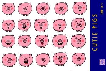 Cute Pig Clip Art