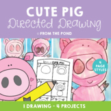 Cute Pig Directed Drawing Art Project