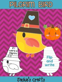 Cute Pilgrim Bird with Pumpkin - Jackie's Crafts Activity, Craft, Thanksgiving