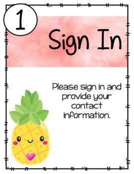 Cute Pineapple Themed - Meet the Teacher Night
