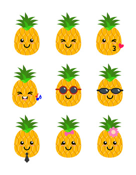 Cute Pineapples Clipart, Pineapple SVG, Pineapples with ...