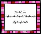Cute Pink 2nd Grade Dolch Sight Word Flashcards