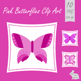 Butterfly Clip Art Butterflies Pink Clipart Spring Summer Insects Bugs