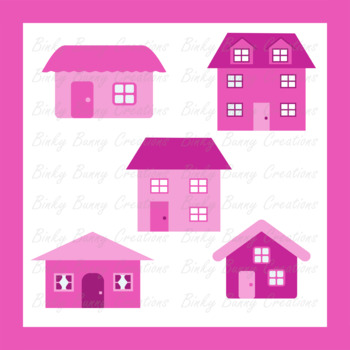 House Home Buildings Pink Clip Art Clipart Images Graphics