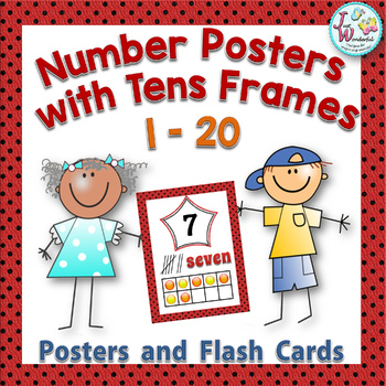 Numbers 1-20 Posters with Tens Frames and Reference Cards | TpT