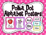 Polka Dot Alphabet Poster Set
