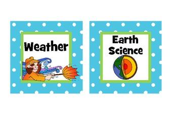 Cute Polka Dot Classroom Library Labels