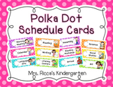 *Polka Dot Daily Schedule Cards