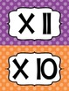 Multiplication Fluency Clip Chart - Polka Dots! - Common Core Fluency Standards