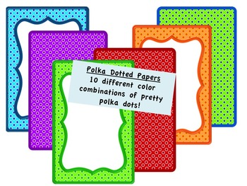 Borders: Cute Polka Dotted Borders and Paper