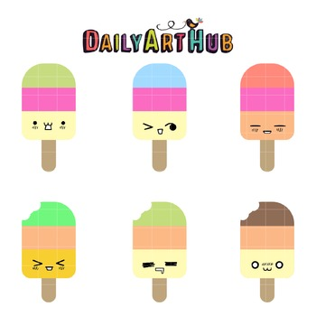 Cute Popsicles Art Clip Art - Great for Art Class Projects!