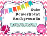 Cute PowerPoint Backgrounds- Rainbow Chevron Frames! *EDITABLE*