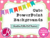 Cute PowerPoint Backgrounds- Rainbow Polka Dot Frames! *EDITABLE*