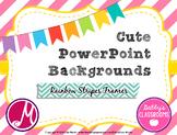 Cute PowerPoint Backgrounds- Rainbow Stripes Frames! *EDITABLE*