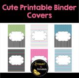 Cute Printable Binder Covers