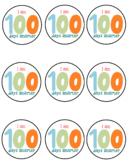Cute Printable I am 100 days smarter round sticker label