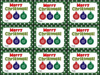 Cute Printable Merry Christmas Gift Tag for Teachers, Students, and Coworkers