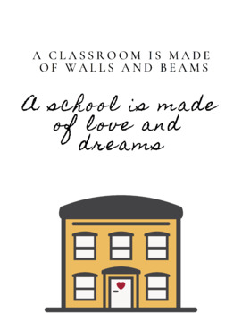 """Cute Printable (Poster) for Classroom: """"A School is Made..."""""""