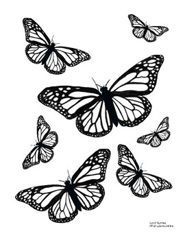 Butterfly Coloring Pages - Free Printable - from Cute to Realistic ... | 350x270