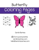 Cute Printable Springtime Butterfly Coloring Pages for May