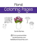Cute Printable Springtime Flowers Coloring Page for May – floral, bouquet, daisy
