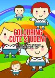 Cute Pupil Colouring Sheet Cute Black White