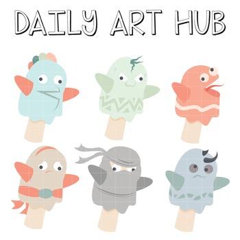 Cute Puppet Hands Clip Art - Great for Art Class Projects!