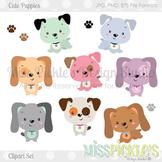 Cute Puppies- Clipart Set