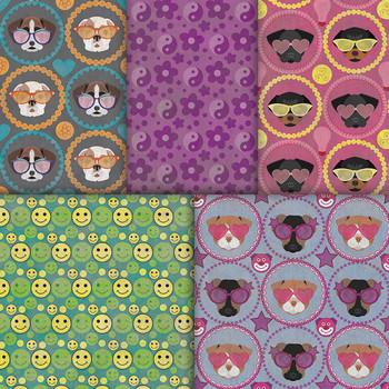 Cute Puppy Paper - 10 Fun Summer Pet Patterns