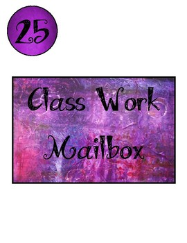 Cute Purple Work Numbers and Title (can use numbers for other things)