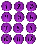 Cute Purple Work Numbers and Title (can use numbers for ot