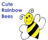 Cute Rainbow Bees