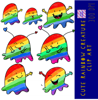 Cute Rainbow Clip Art